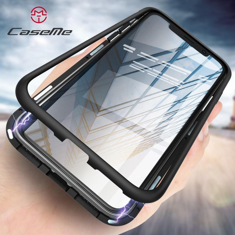 CaseMe Detachable Magnetic Cover (iPhone X/Xs) - Svart