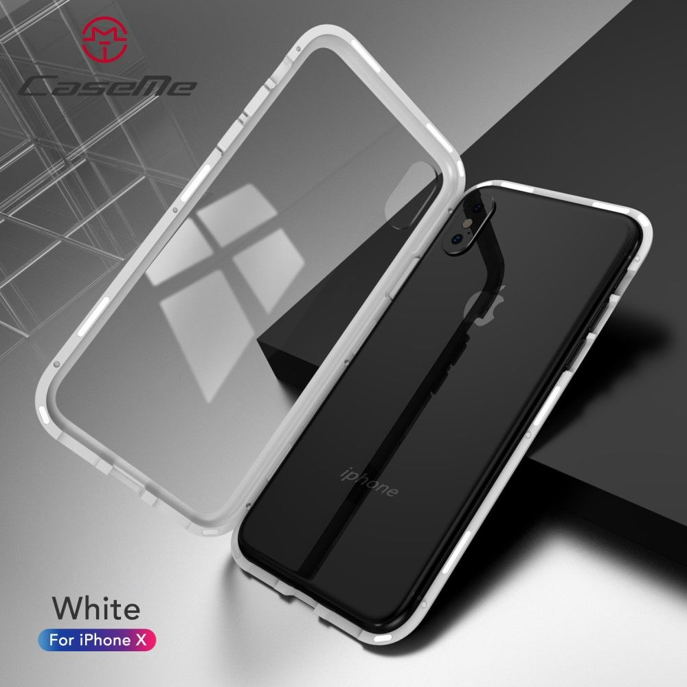 CaseMe Detachable Magnetic Cover (iPhone X/Xs) - Vit