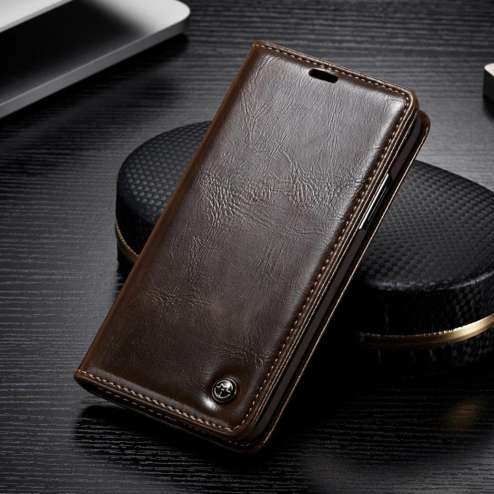 CaseMe Shiny Wallet (iPhone Xs Max) - Brun
