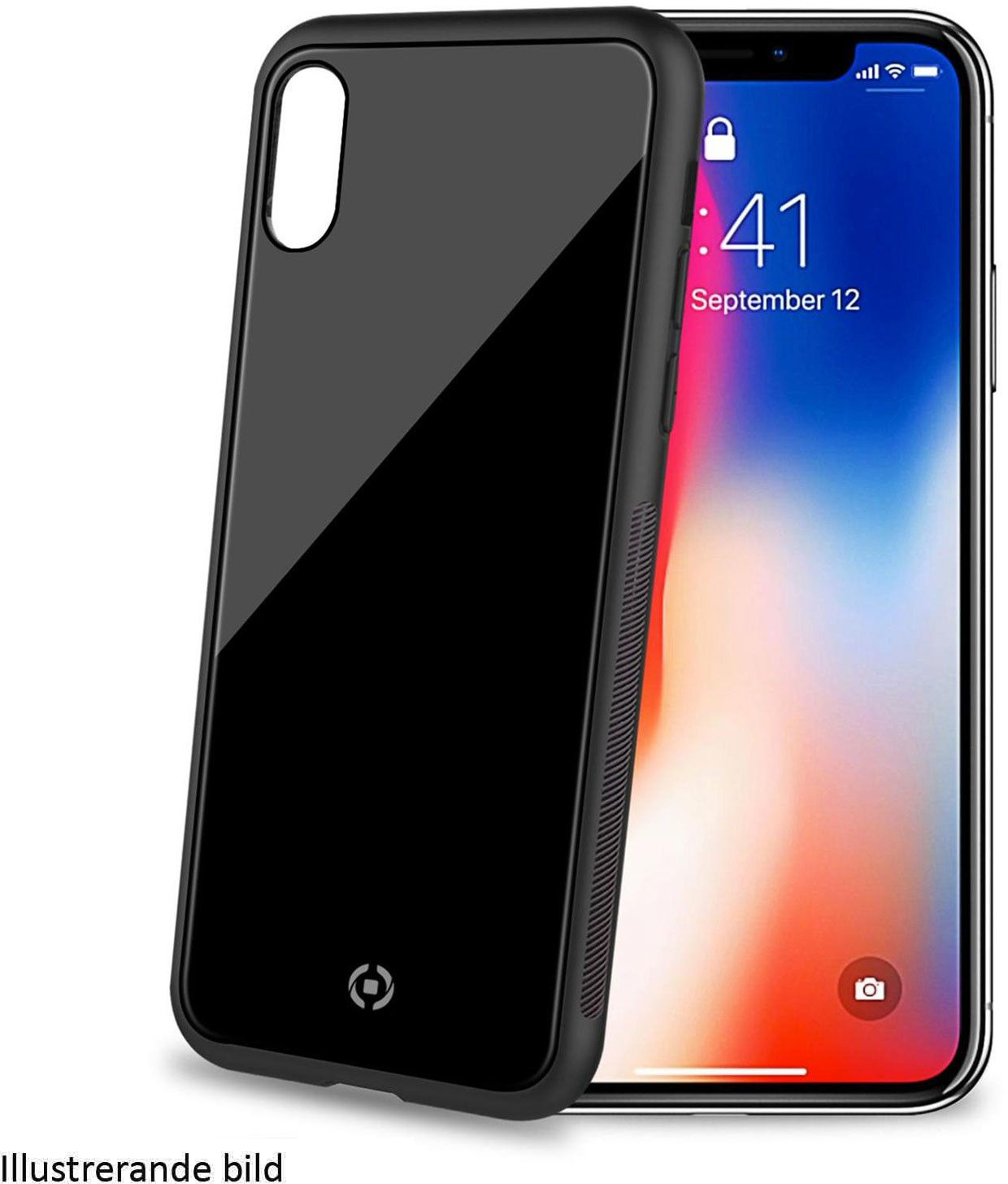 Celly Diamond Cover (iPhone Xs Max) - Svart billigt online ... e0be9b3c35313