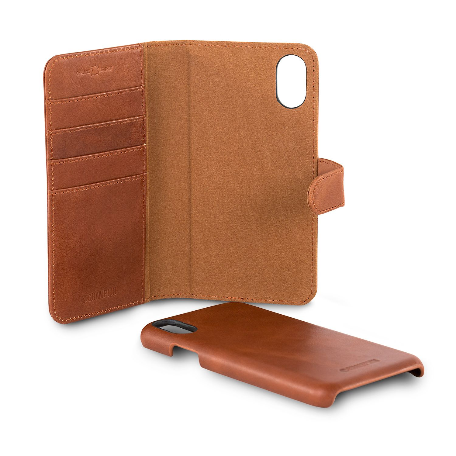Champion Leather Wallet (iPhone Xr) - Brun