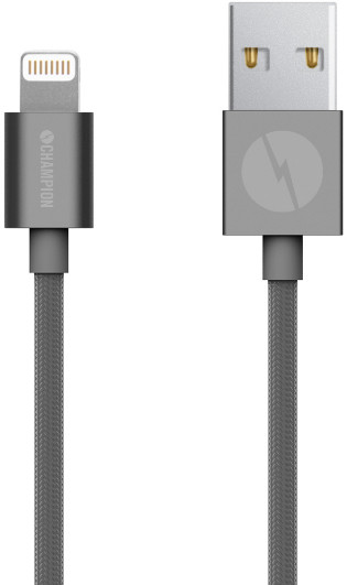 Champion Lightning Textile Cable - grå