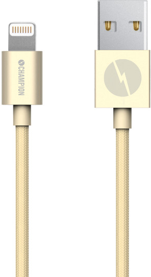 Champion Lightning Textile Cable - guld