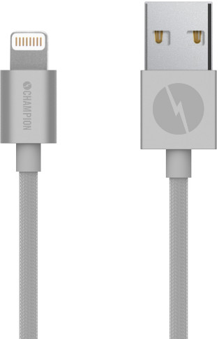 Champion Lightning Textile Cable - silver