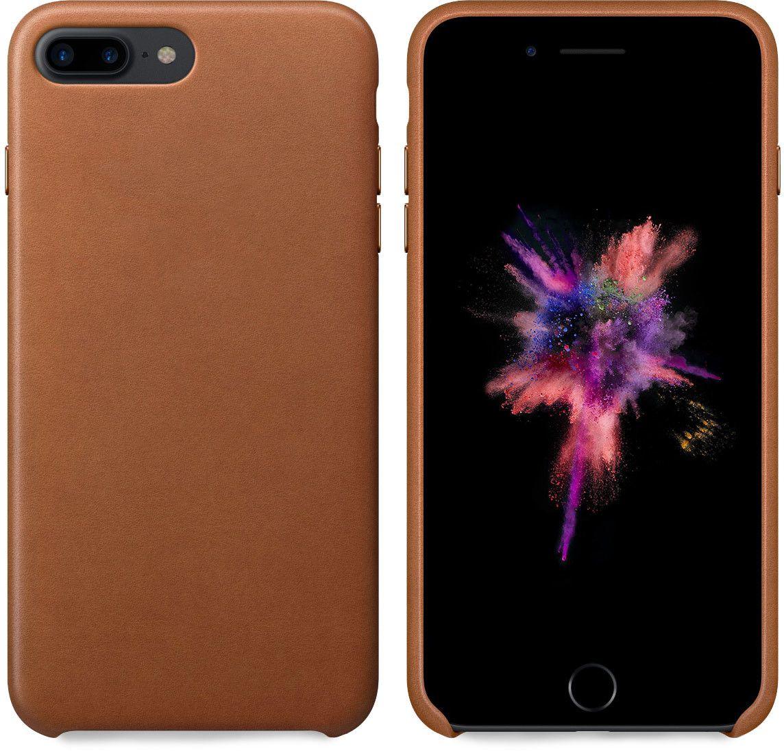 Champion Slim PU Leather Case (iPhone 7 Plus) – Brun
