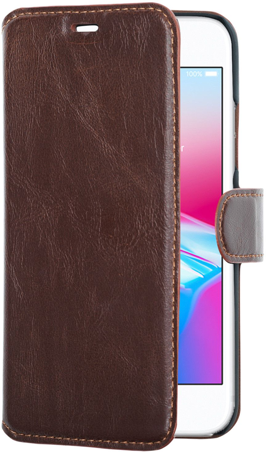Champion Slim Wallet Case (iPhone SE2/8/7) - Brun