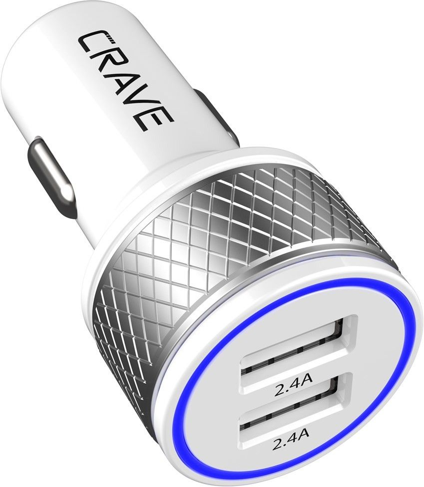 Crave DualHub 2 Port USB Car Charger 24W 4,8A