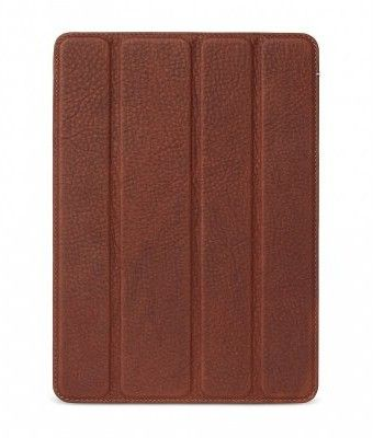 Decoded Leather Slim Cover (iPad 9,7) - Brun