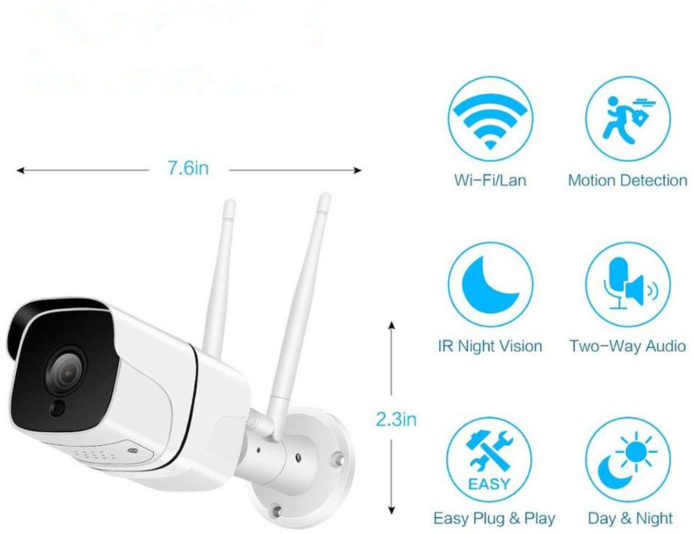 Denver Outdoor Smart Wi-Fi/IP Camera