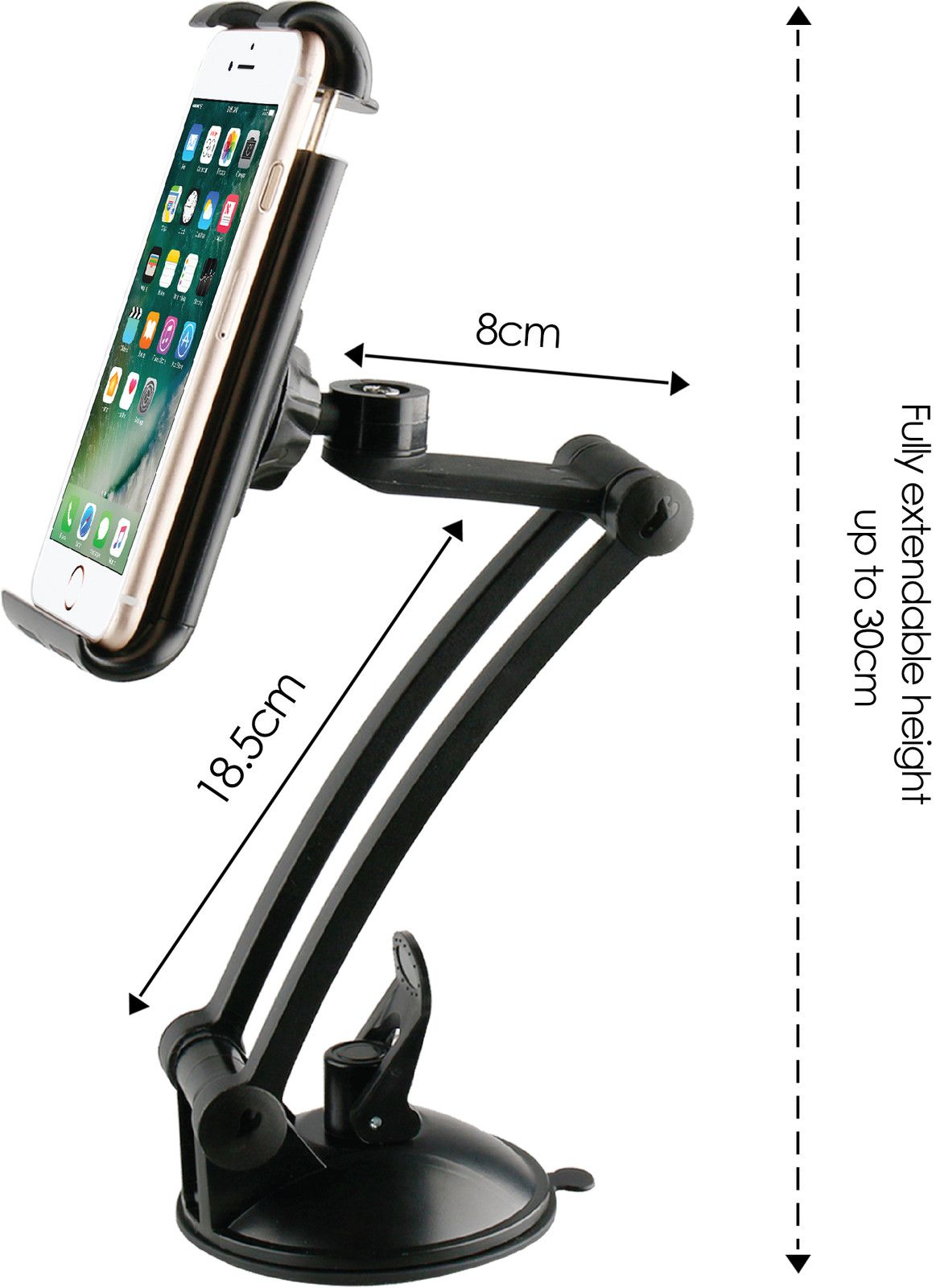 Desire2 Extended Arm Suction Holder (iPad)