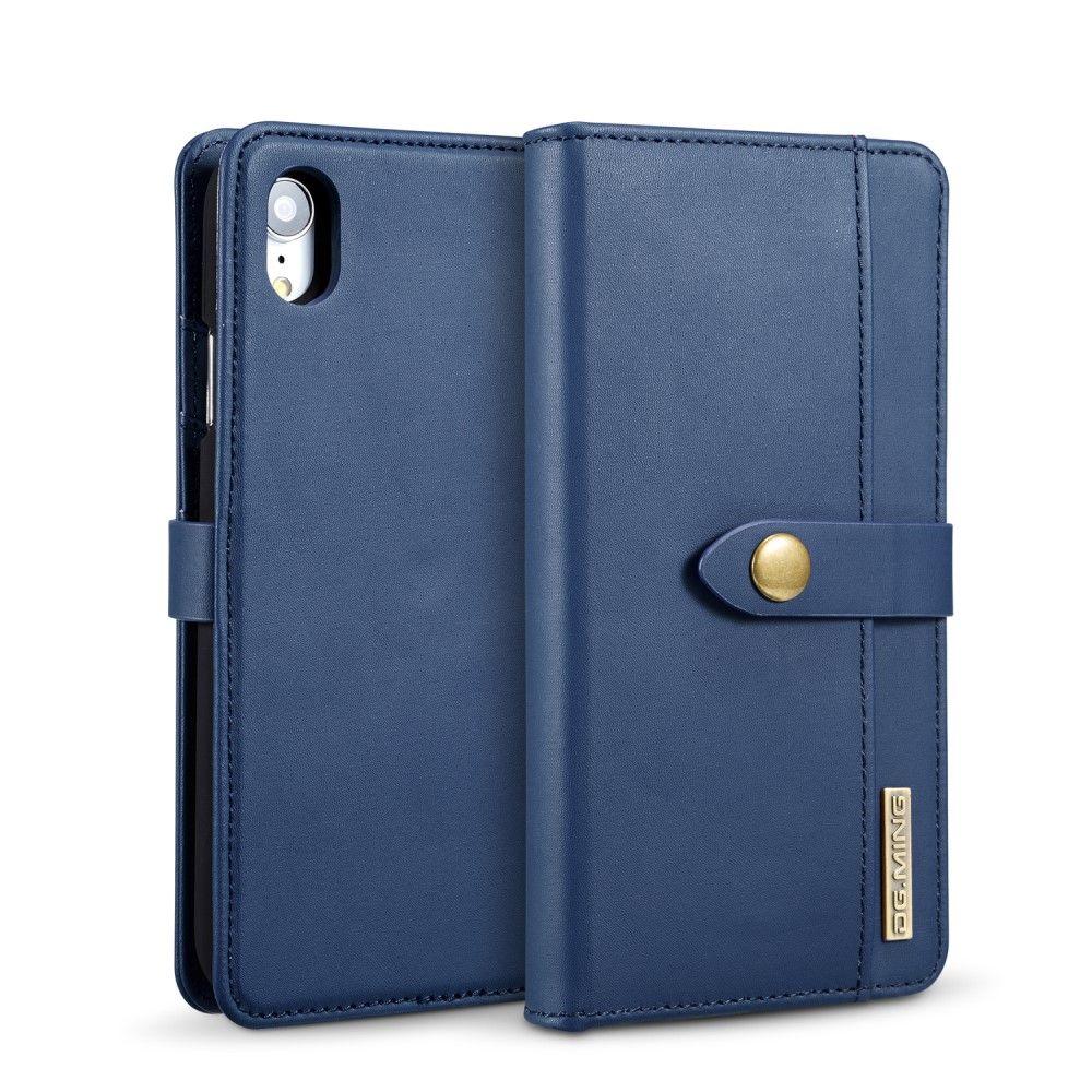 DG Ming 2in1 Leather Wallet (iPhone Xr) - Blå