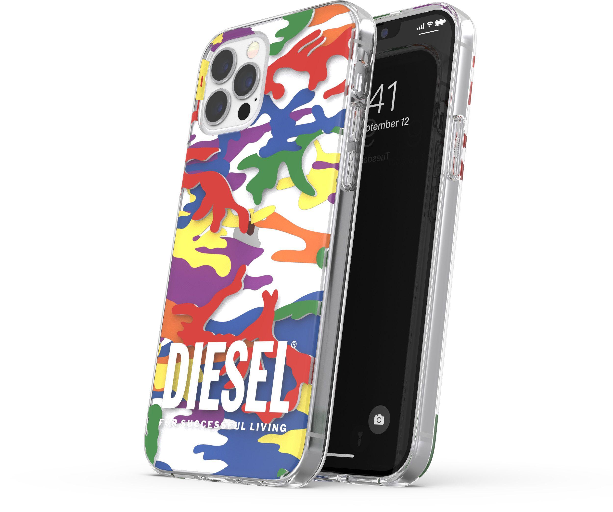 Diesel Pride Camo Clear Case (iPhone 12/12 Pro)