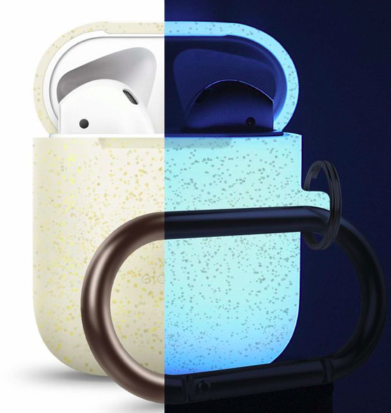 Elago AirPods Hang Case for AirPods Case - night glow glitter
