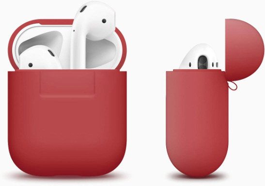 Elago AirPods Silicone Case for AirPods Case - röd