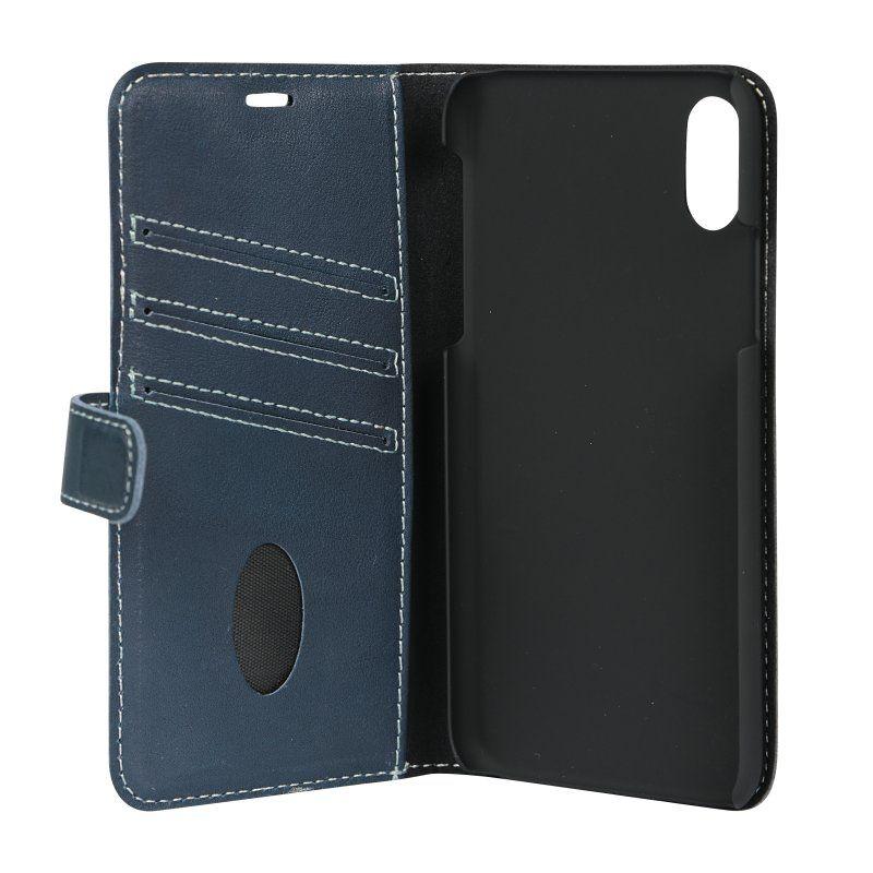 Essentials Leather Book (iPhone X/Xs) - Blå