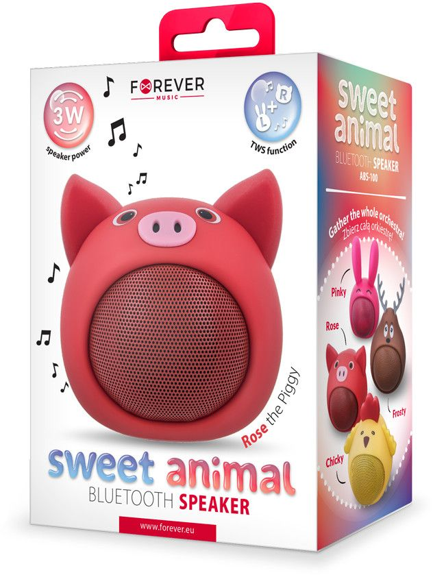 Forever Sweet Animal Speaker - Pig Rose