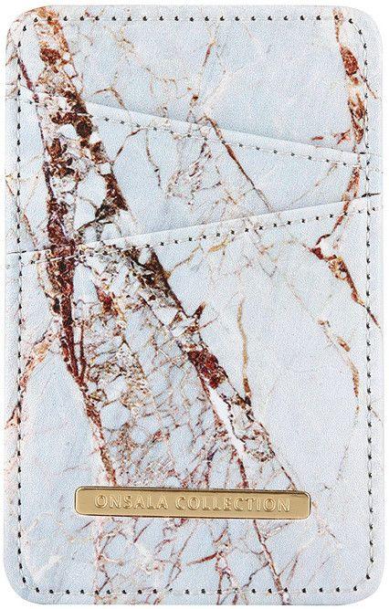 Gear Onsala Phone Card Holder - Marble - Svart