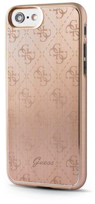 Guess Aluminium 4G Pattern (iPhone 7) – Guld