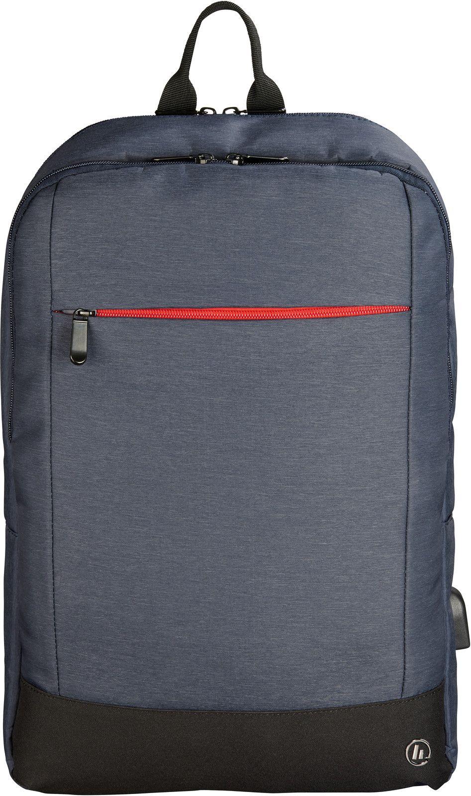 """Hama Manchester Ryggsäck med USB-uttag (15"""") - Blå"""