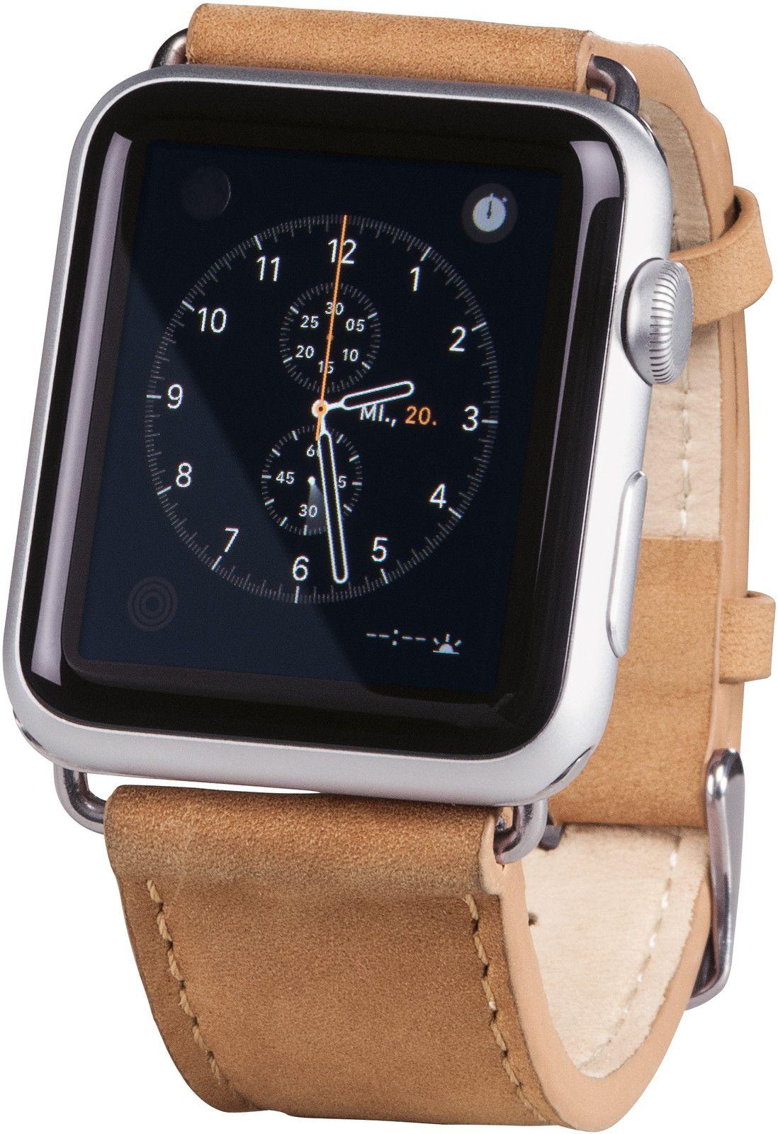 Hama Watchband Velour (Apple Watch 42 mm) - Brun