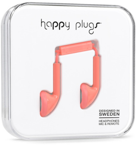 Happy Plugs Earbud - korall