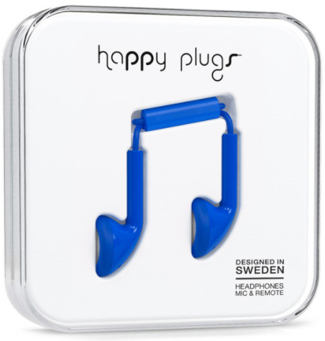 Happy Plugs Earbud - mörkblå