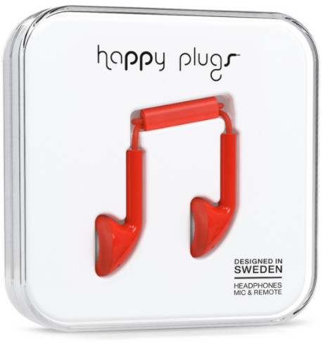 Happy Plugs Earbud - röd