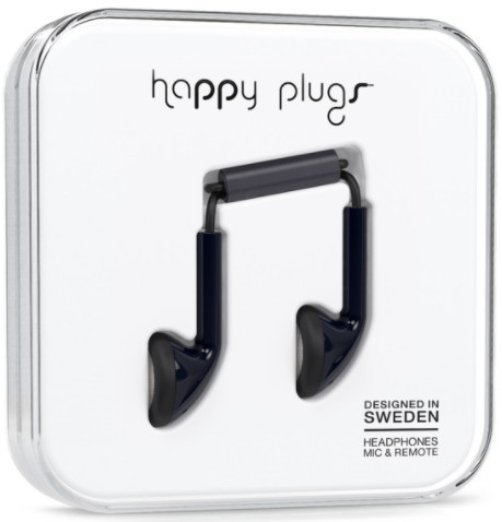 Happy Plugs Earbud - svart