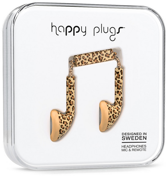 Happy Plugs Earbud - leopard