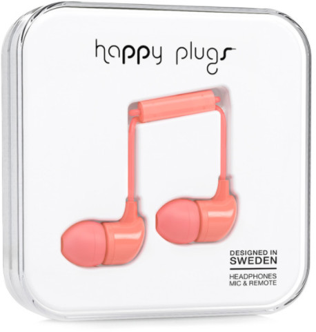 Happy Plugs In-Ear - korall