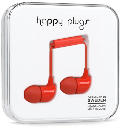 Happy Plugs In-Ear - röd