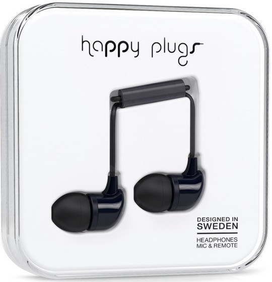 Happy Plugs In-Ear - svart