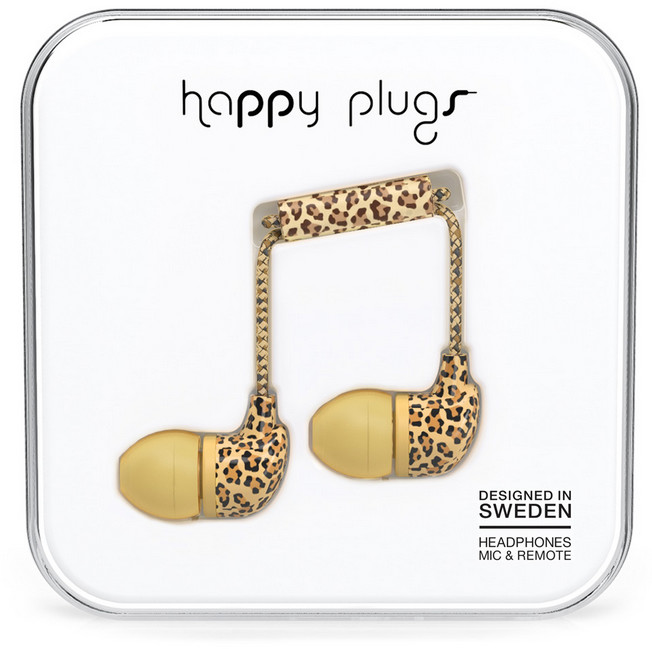 Happy Plugs In-Ear - leopard