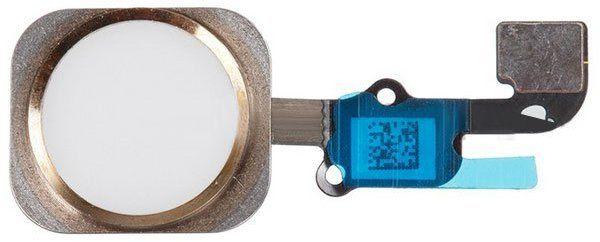 Home-knapp med Flexkabel (iPhone 6S Plus) – Vit/guld