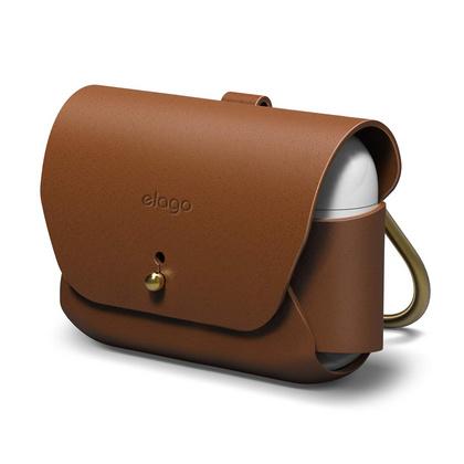 Elago Leather Case (AirPods Pro) - Brun