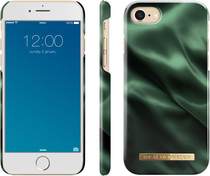 iDeal of Sweden Satin Case (iPhone SE2/8/7/6/6S) - Emerald Satin