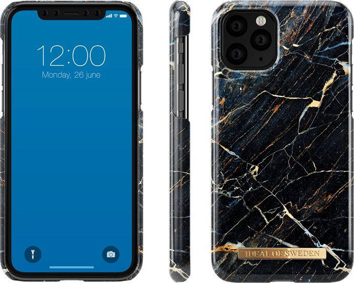 iDeal Of Sweden Fashion Marble (iPhone 11 Pro Max) - Black Galaxy Marble