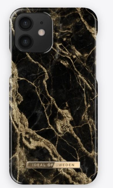 iDeal Of Sweden Fashion Marble (iPhone 12 mini) - Black Galaxy Marble