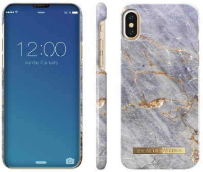 iDeal Of Sweden Fashion Marble (iPhone X/Xs) - Sparkle Greige