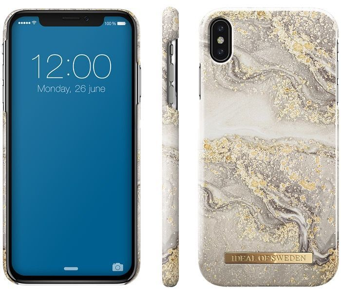 iDeal Of Sweden Fashion Marble (iPhone Xs Max) - sparkle greige