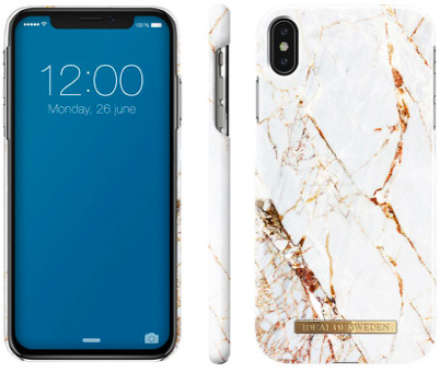 iDeal Of Sweden Fashion Marble (iPhone Xs Max) - vit/guld
