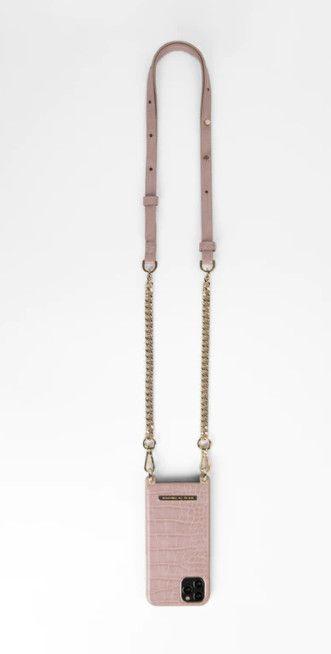 iDeal of Sweden Necklace Case (iPhone 11) - Jet Black Croco