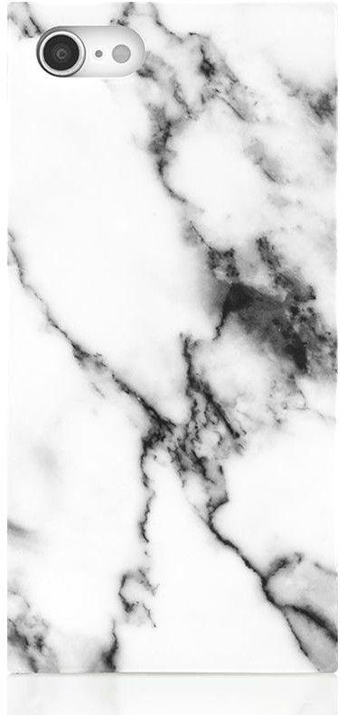 iDecoz Square Case - Marble (iPhone SE2/8/7) - Svart