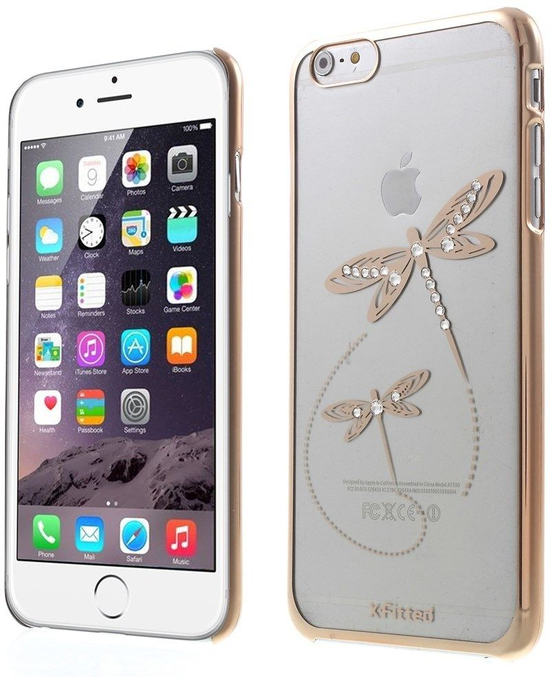 X-Fitted Swarovski Dragonfly (iPhone 6(S) Plus) - Guld