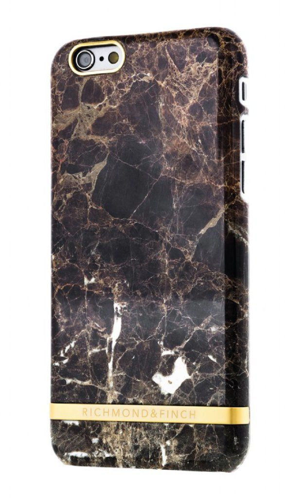Richmond & Finch Glossy Marble (iPhone 6/6S) – Svart/grå