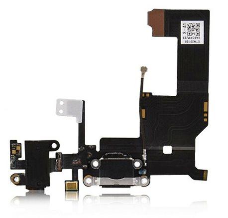 Lightningport med wifi-antenn, 3G-antenn, hörlursingång och mic (iPhone 5) - Svart