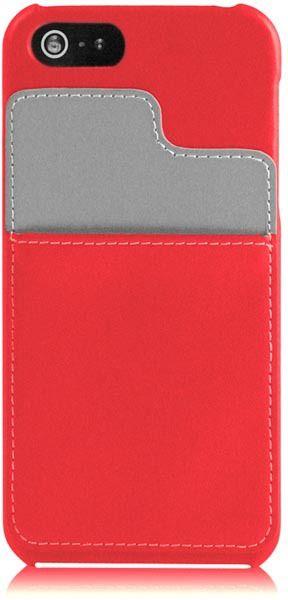 EPZI Kreditkortsskal (iPhone 5/5S/SE) – Röd