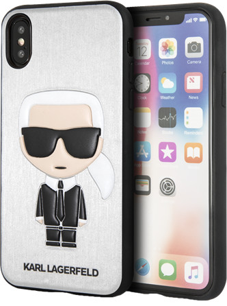 Karl Lagerfeld Iconic (iPhone X/Xs - silver