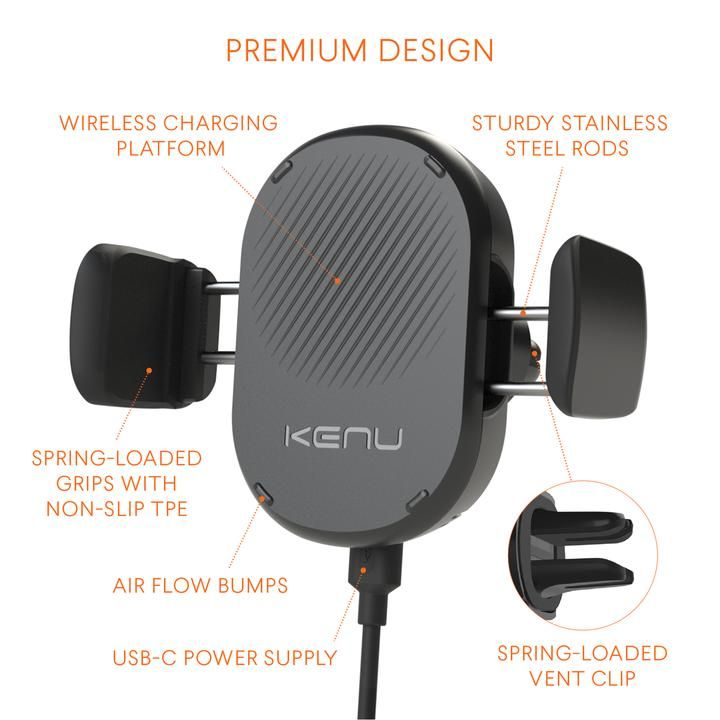 Kenu Airframe Wireless 10W Vent Mount
