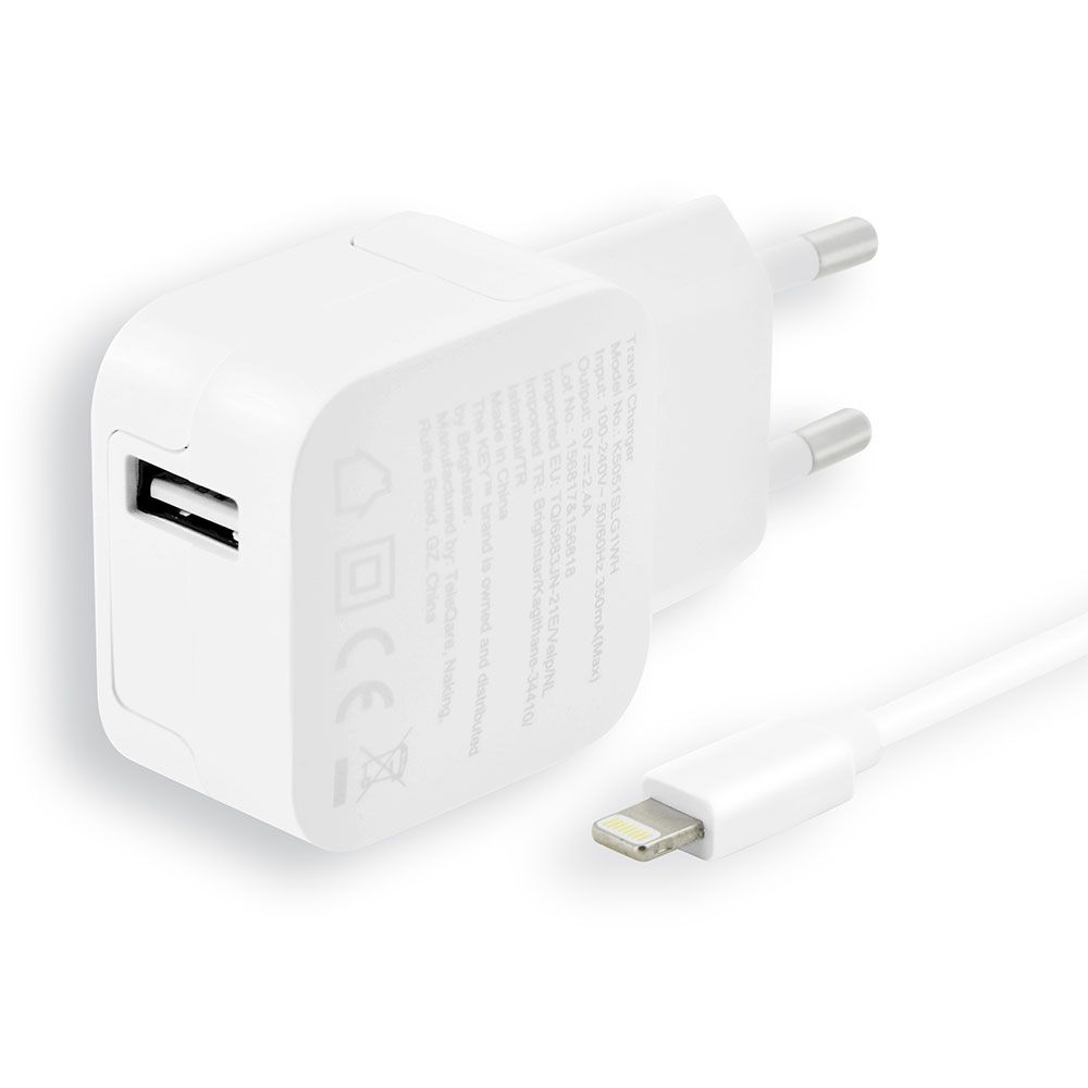 Key Power Wall Charger + Lightning Cable